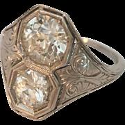Platinum Euro Cut Diamond RIng