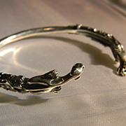Sterling Gargolye Cuff Bracelet