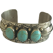 Sterling Turquoise Navajo Cuff