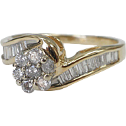Certified 14 Karat Gold Engagement Ring with 0.92 carat Diamonds Size 7.5 Appraisal Certificate Included