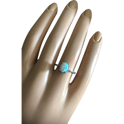 Adorable Engagement Ring Australian Opal Natural Diamonds Sterling Silver Size 6