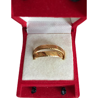 21K Gold Band Rings Pair of Wedding Bands Size 8.75 and Size 11