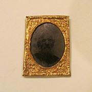 """1"""" Framed Tintype, 1860's"""