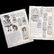 """Vintage Patterns for 13"""" Madame Alexander Dolls"""