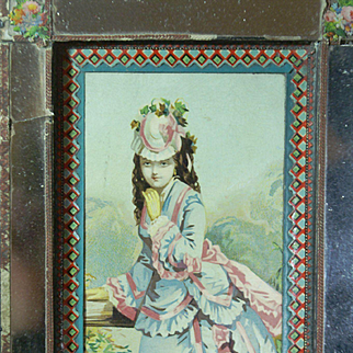~~Beautiful Rare Candy Dresser Box c. 1870's perfect for favorite doll or accessories