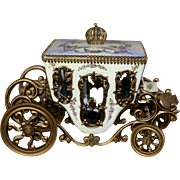 Beautiful French Enameled Carriage c. 1885