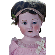 "33"" German Wax Over Composition Doll"