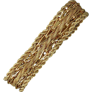 14K yellow gold bracelet, circa 1950's