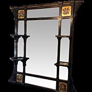 Victorian Ebonized Gilt Mirror