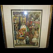 """Frank Godwin's, """"The Trial Scene From Alice In Wonderland"""""""