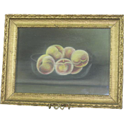 A Bowl of Peaches Chalk Drawing
