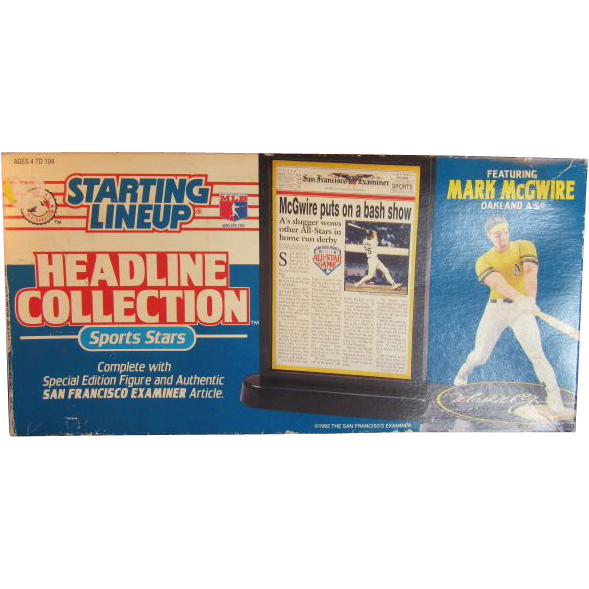 Mark Mc Gwire Starting Lineup Headline Collection 1992