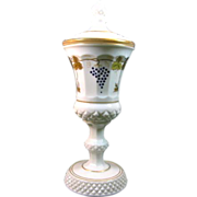 Westmoreland Waterford Urn with Gold leaves and Grapes