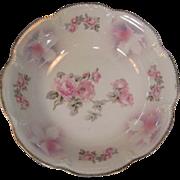 Antique Schurmann & Schreider  Pink Rose Serving Bowl