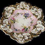 Gold & Pink Floral Bowl