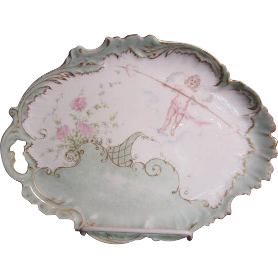 Limoges Dresser Tray; Artist signed and dated 1896
