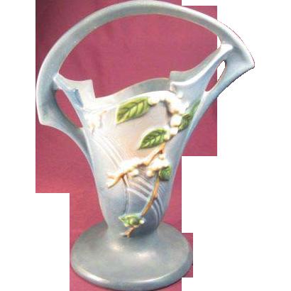 "Roseville Pottery ""Snowberry"" Basket"