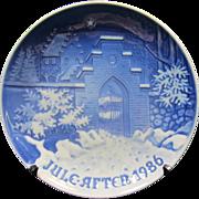 Vintage Bing & Grondahl 1986 Christmas Plate