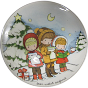 Vintage Joan Walsh Anglund Christmas Collector Plate