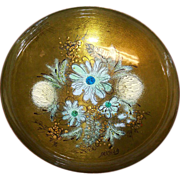 "Sacha Brastoff Enamel on Copper 8 1/4"" Bowl on Pedestal"