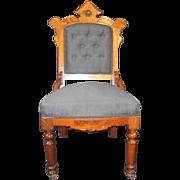 Louis XV Revival Walnut Sidechair