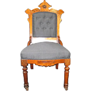 Louis XV Revival Walnut Sidechair