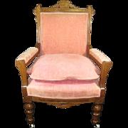 Walnut Eastlake Armchair