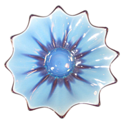Fostoria Heirloom Blue Opalescent Plate