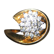 14 Karat Gold and Diamond Ring