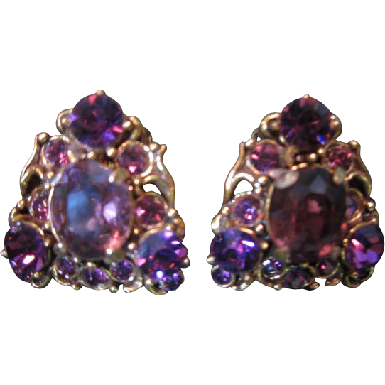 Hollycraft Purple Earrings