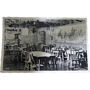Vintage Postcard of Cedar Dining Room at Buckhorn