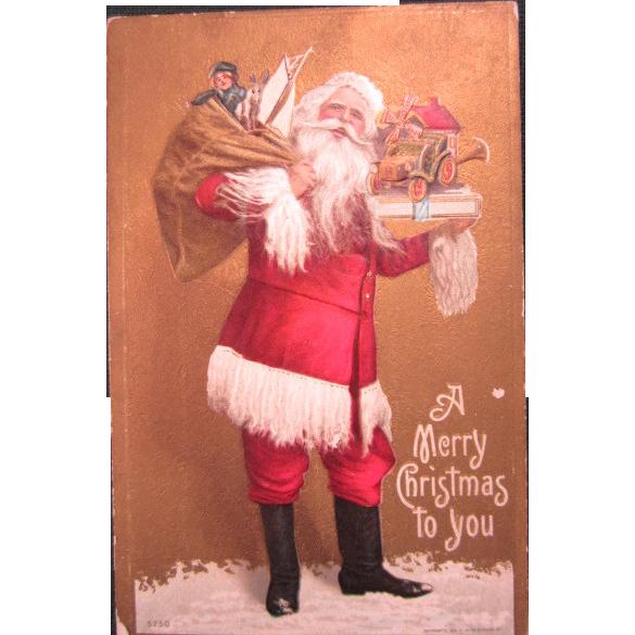 Embossed Christmas Postcard