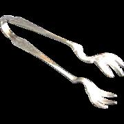 Reed and Barton Silver Plate Sugar Tongs