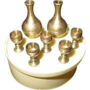 Miniature Brass Wine Set
