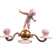 Hutschenreuther Porcelain Cherub Candle Holder