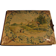 Vintage Oblong Celluloid and Velvet Photo Album