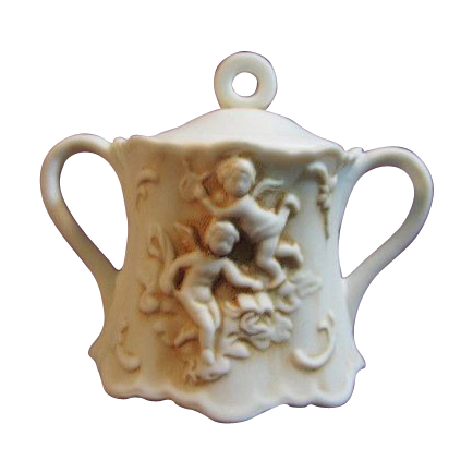 Lefton Porcelain Cherub Covered Sugar Bowl #215