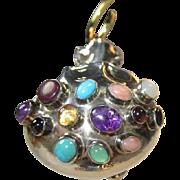 Sterling Silver Medicine Bag Pendant by Navajo Artist E. Billy