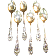 Set of 6 Sterling Demitasse Spoons - Red Tag Sale Item