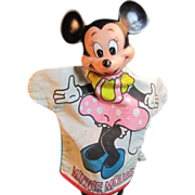 Minnie Mouse Hand Puppet 1950's