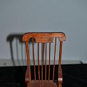 Wonderful Miniature Wood Rocking Chair For Doll Diorama