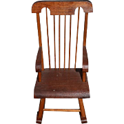 Wonderful Miniature Wood Rocking Chair For Doll Diorama