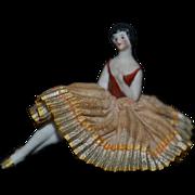 Old Doll Miniature Half Doll W/ Legs Pin Cushion Dollhouse German