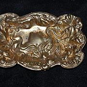 Antique Doll Ormolu Art Nouveau Dish For French Fashion Doll Vanity Dish Trinket