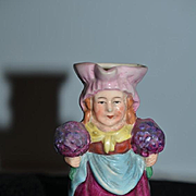 Old Miniature Doll Lady Pitcher German Character Petite Size