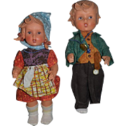 Vintage Goebel Doll Dolls Girl And Boy Sweet Pair W/ String Tags