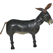 Old Schoenhut Doll Toy Rare Glass Eye Donkey Carved Jointed Wood Burro