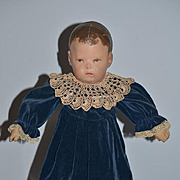 Antique Doll Kathe Kruse Cloth Doll Wonderful Oil Cloth