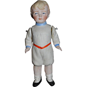 Antique Doll All Bisque School Boy Miniature Jointed Arms CUTE! Dollhouse Frozen Charlie
