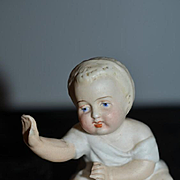 Antique Doll Miniature All Bisque Baby Dollhouse Piano Baby Sweet Figurine